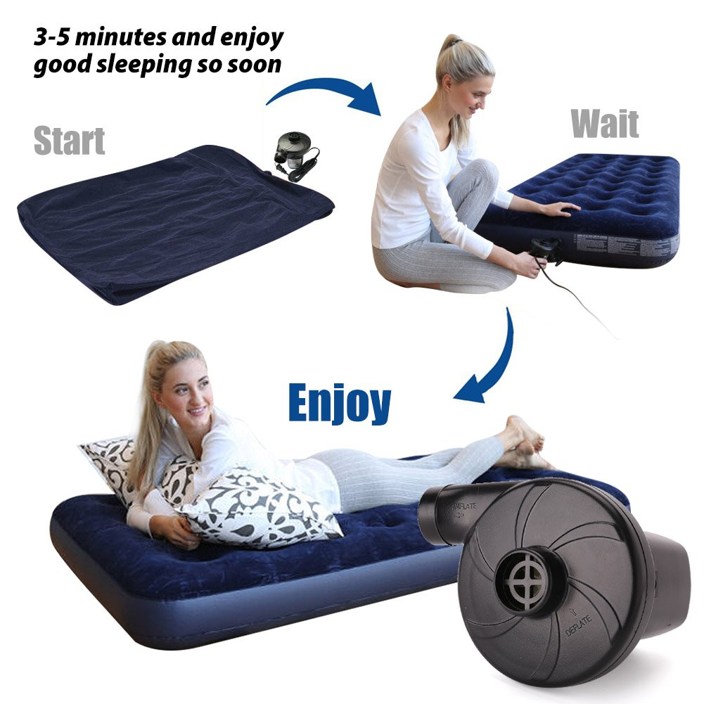 amazon com lotfancy air mattress pump 110 120v ac portable
