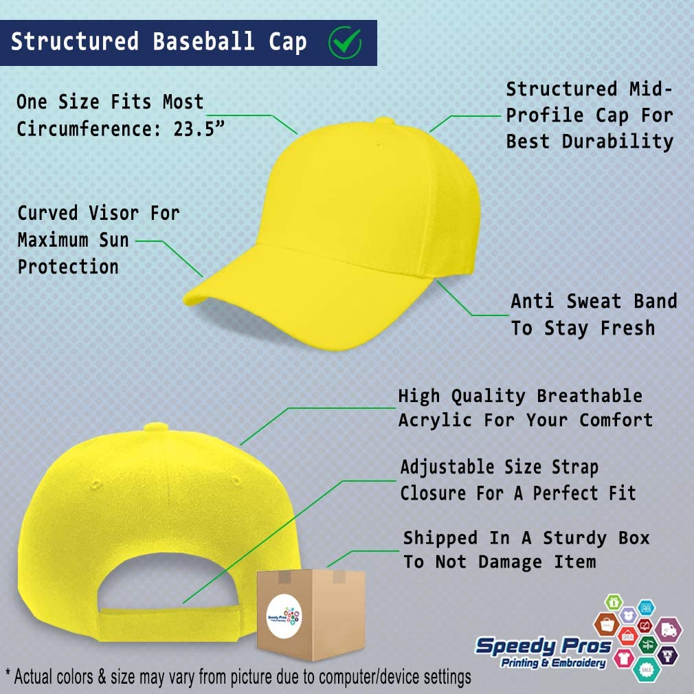 Custom Baseball Cap Lime Slice Embroidery Dad Hats for Men /& Women Strap Closure