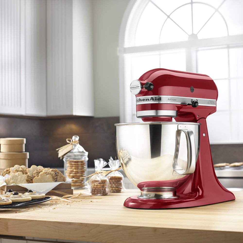 KitchenAid KSM150PSER Artisan Tilt-Head Stand Mixer with Pouring Shield, 5-Quart, Empire Red by KitchenAid (Image #6)
