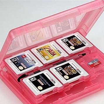 Fendii - Estuche para guardar cartuchos de Nintendo 3DS y tarjetas (capacidad para 24 unidades, de Nintendo 3DS XL, 3DS, 2DS, DSi XL, DSi, DS Lite y DS), color blanco: Amazon.es: Electrónica