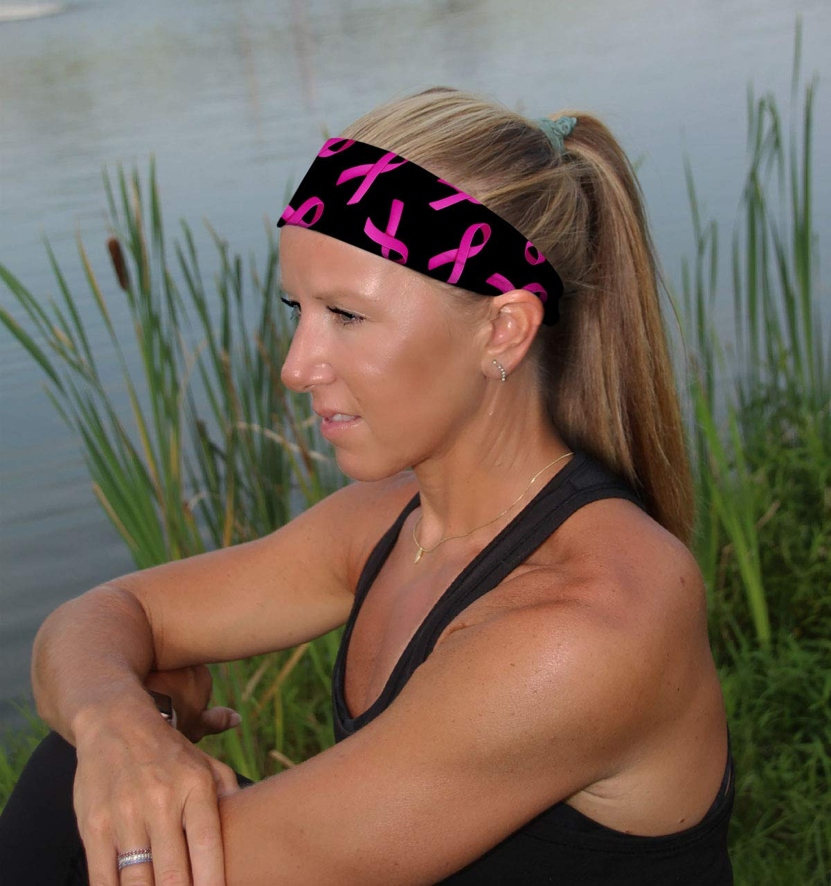 MVP Non Slip Hair Band Stretch Headband for Outdoor Sports Athletic Workouts /& Lifestyle RAVEbandz Moisture Wicking Silicone Lined Fashion Designs