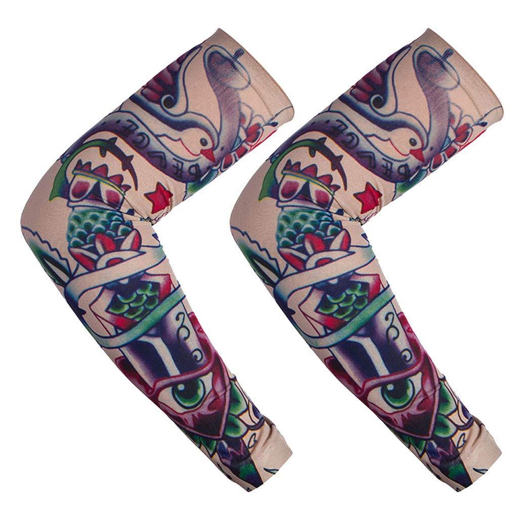 Tefamore Nylon Elástico Tatuaje Mangas Sudor Absorbente Protección ...