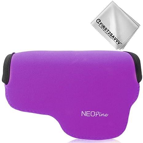 First2savvv púrpura Funda Cámara Reflex Neopreno Protectora para ...