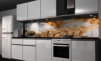 Küchenrückwand-Folie Getreide Klebefolie Spritzschutz Küche ...