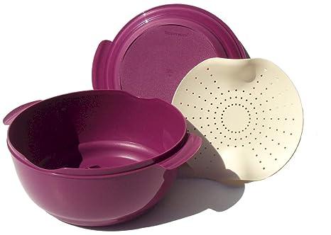 Amazon.com: Tupperware Microondas Vaporera Cocina 10 1/2cup ...