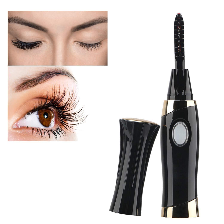 Heated Eyelash Curler, Electric Eyelash Shaper Tool USB Rechargeable LED 20s Fast Heating Eyelash Curling Kit