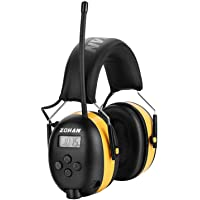 ZOHAN Type-A AM/FM Radio Headphone with Digital Display, Ear Protection Noise Reduction Safety Ear Muffs, Ideal for Lawn…
