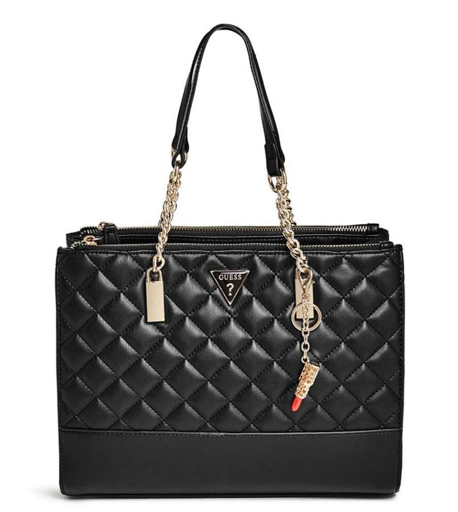 : Guess Women's Valeria Quilted Tote Bag Handbag