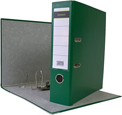10 x Ordner A4 8 cm PP Kunststoff Grün Aktenordner Briefordner Breit 80 mm