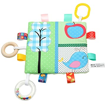 Cute ! Taggy Comforter In Bright Star  Fabric Handmade Tag Blanket