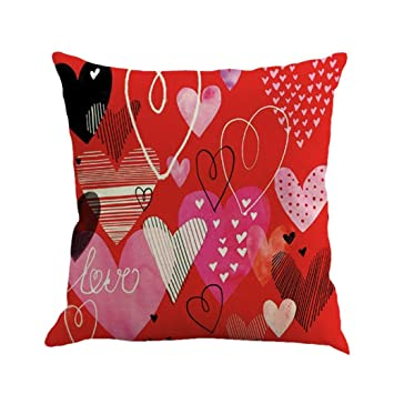Hart Red Cushion Cover Pillow Case Home Décor Set Of 1 pcs sofa Living Room
