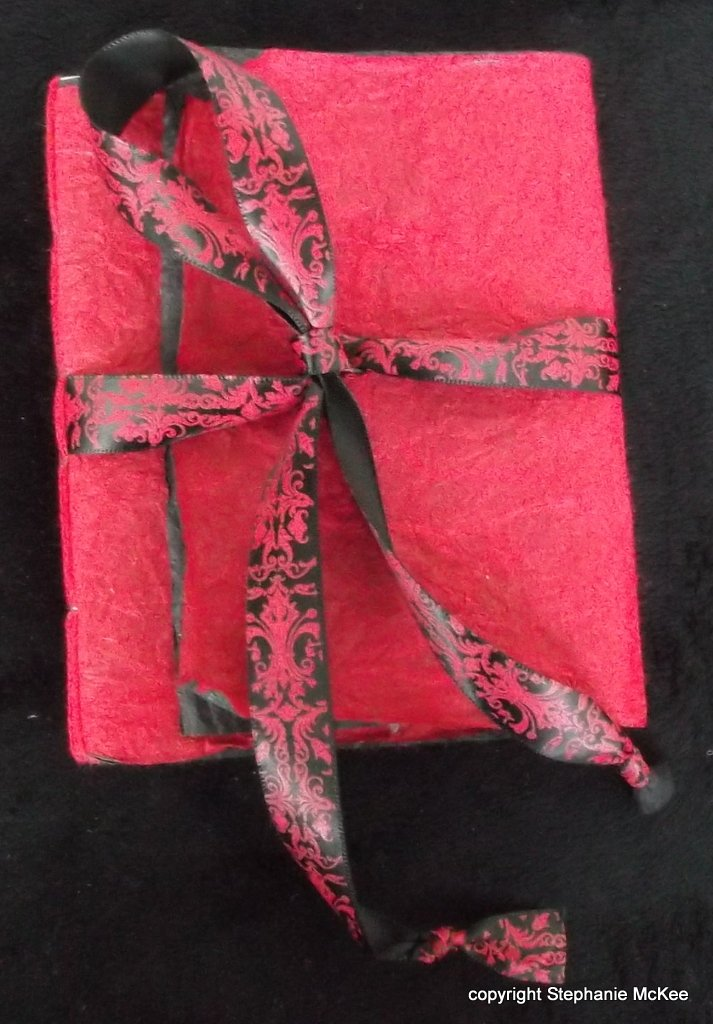 Red Thai Wrap Journal by Life is Art by Stephanie McKee