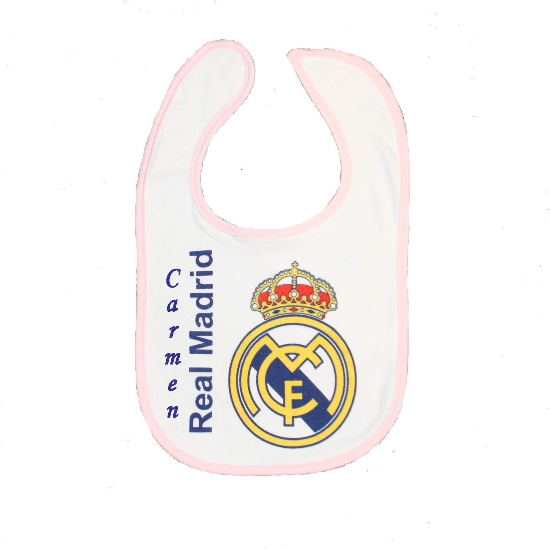 Babero personalizado del Real Madrid F.C. Babero personalizado con ...