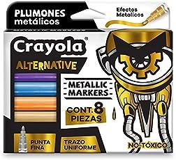 Crayola 588628MX00 Alternative Marker, Color Metálico, Set de 8