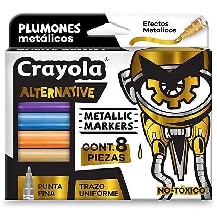 Crayola 588628MX00 Alternative Marker, Color Metálico, Set de 8 ...