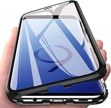 Eabhulie Galaxy S9 Plus Funda, Metal Bumper con Adsorción ...