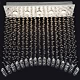 CRYSTOP Contemporary Flush Mount Chandelier Crystal