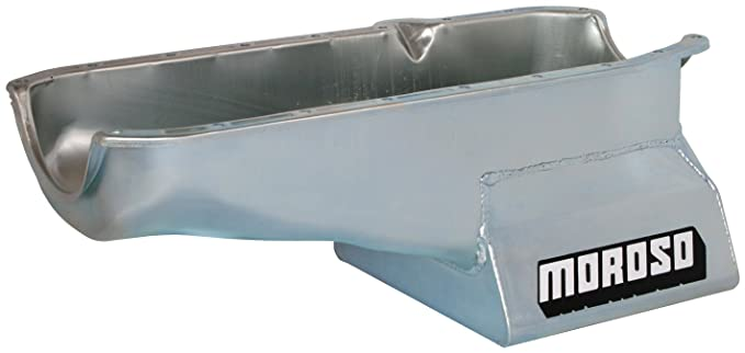 Chevy Big Block Each Moroso 20451 Oil Pan Steel Clear Zinc 7 qt