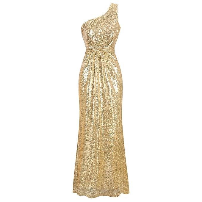vestido de noche Fiesta nocturna elegante Club Sequin vestidos mujer vestido nuevo oro Sequined sin respaldo Zipper lateral Maxi vestidos fiesta largos: ...