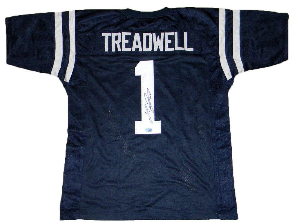 promo code 5caa3 ccd4b Laquon Treadwell Signed Jersey - Mississippi #1 Navy ...