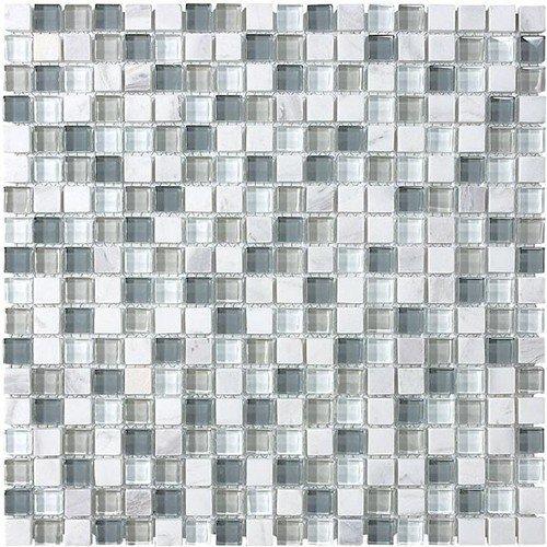 (Glass Tile and Stone Iceland Mosaic Backsplash Bliss Glass)