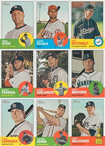 2012 Topps Heritage Baseball Complete Mint 545 Card Master Series Set with First Mike Trout Heritage Card from Topps Heritage