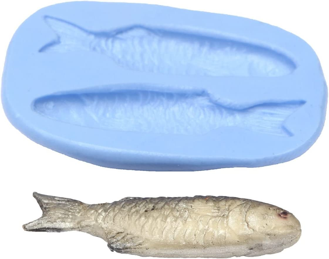 Dolls House Miniature Reusable Silver Fish Silicone Mould