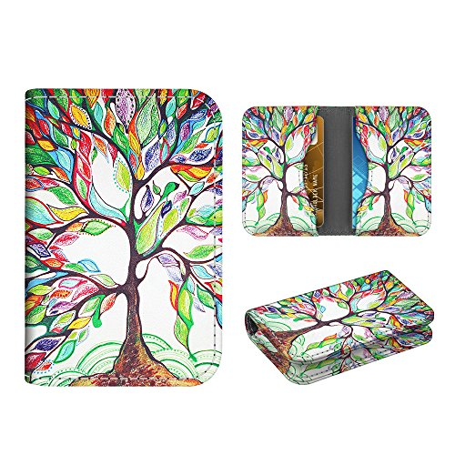 Business Card Holder Case, Fintie Premium Vegan Leather Folio RFID Blocking Credit Cards ID Card Wallet Organizer with Magnetic Closure, Love Tree