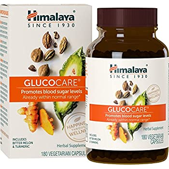 Himalaya GlucoCare/Diabecon with Bitter Melon and Gymnema for Blood Sugar Support, 180 Capsules, 626 mg, 45 Day Supply
