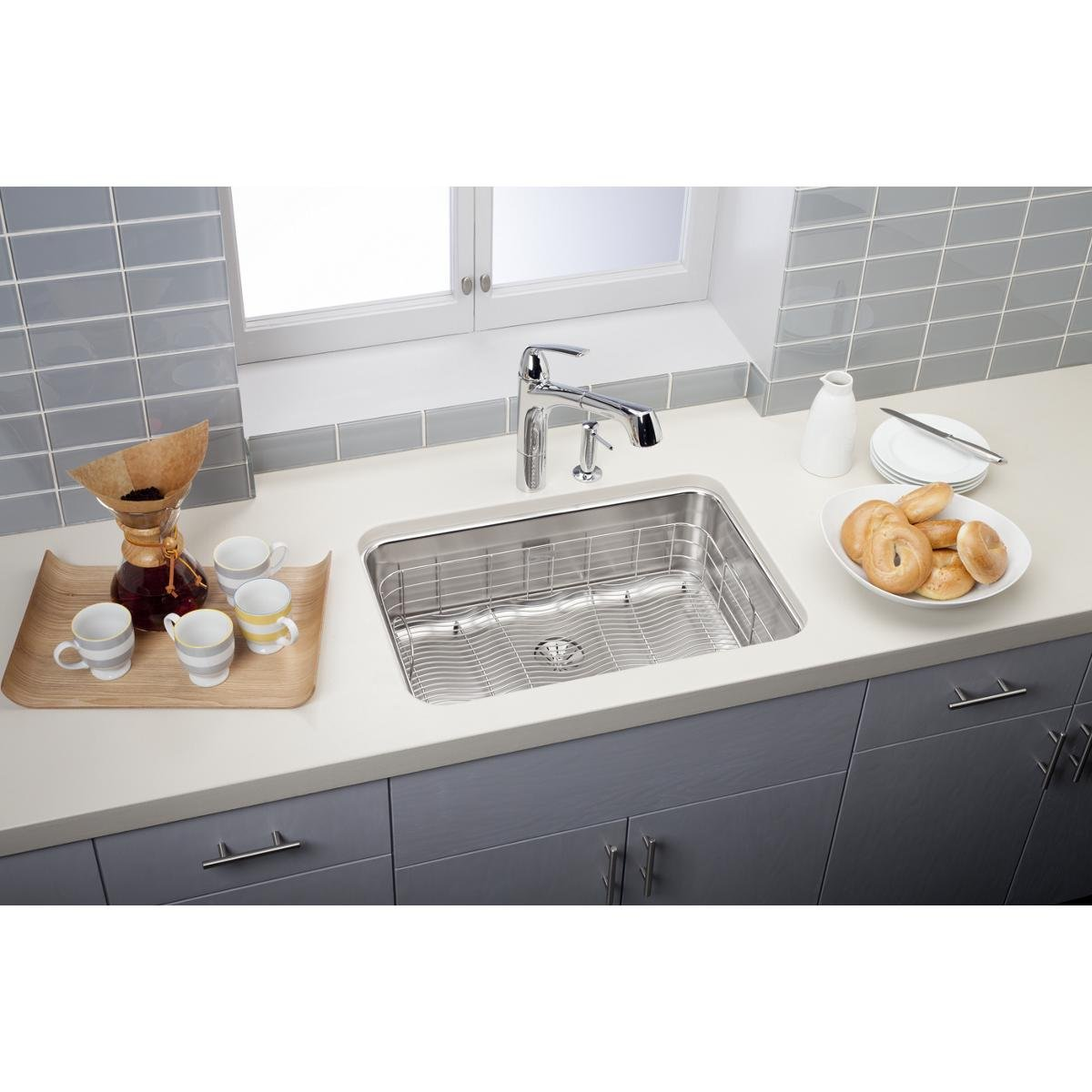 ... Elkay Crosstown Sink By Elkay Lustertone Eluh2416pd Single Bowl  Undermount Stainless Steel ...