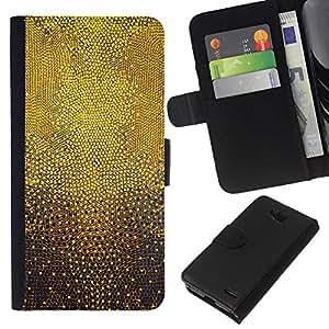 KLONGSHOP // Tirón de la caja Cartera de cuero con ranuras para tarjetas - El modelo de puntos abstracta 3D Dios Inspiring - LG OPTIMUS L90 //