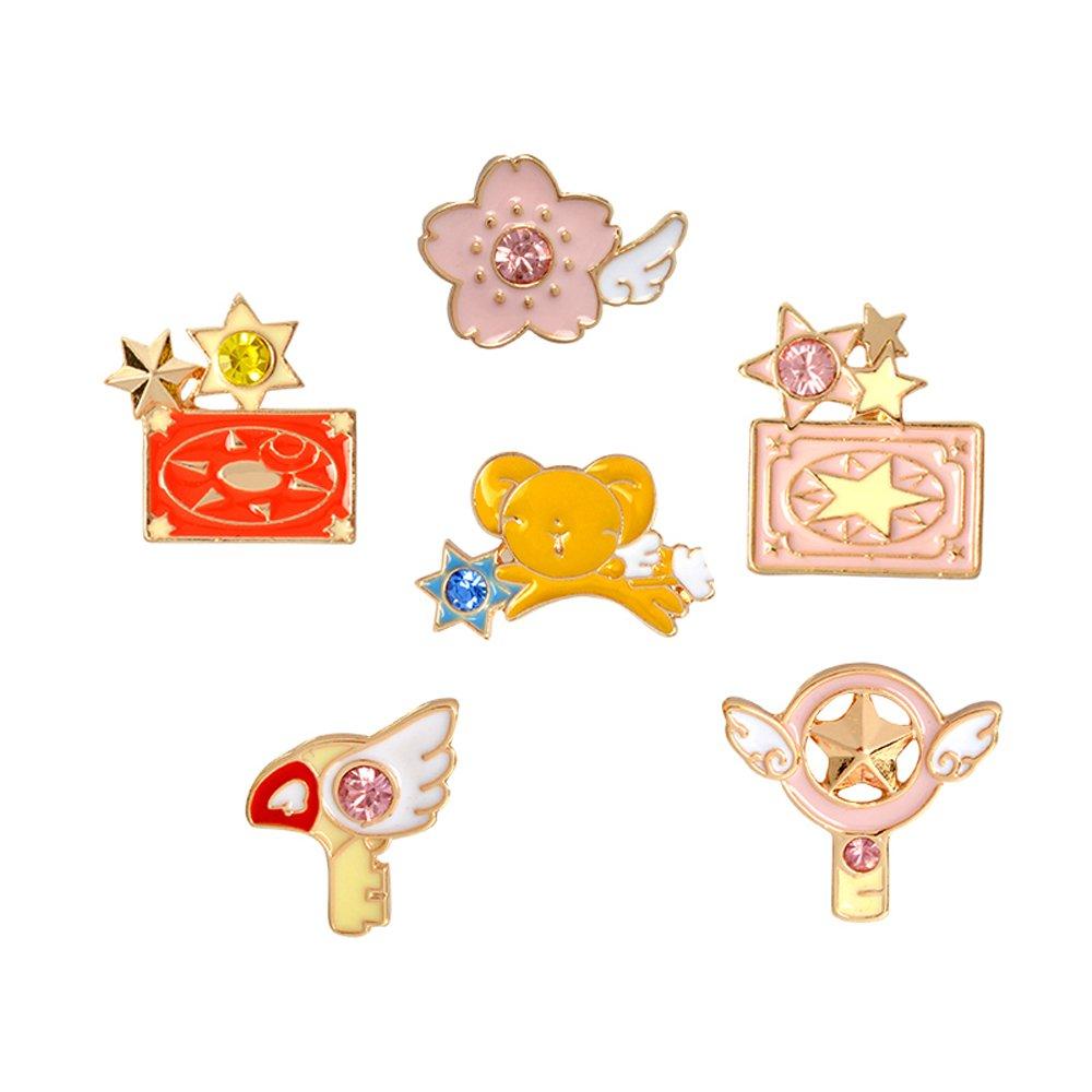 DoubleChin Cardcaptor Sakura Pins (6 Piece Set) - Cardcaptor Sakura Charms