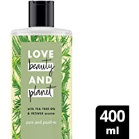 Love Beauty And Planet Tea Tree Oil and Vetiver Pure Positive Bodywash, 400ml