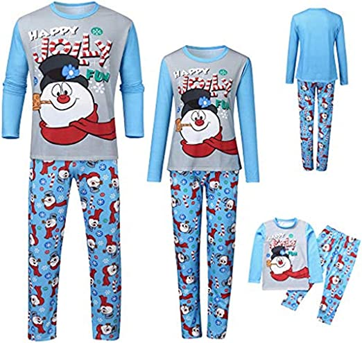 callm Toddler Infant Baby Christmas Girls Cartoon Xmas Ruffles Tops Pants Set