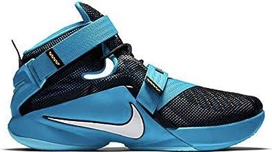 detailed look 8d4f7 a7961 Nike Mens Lebron Soldier IX Shoes, Black/White-Blue Lagoon-Laser Orange,  Blue/Black