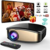 WiFi Video Projector DIWUER +50% Brighter Full HD 1080P Portable Projectors Support Wireless Display for Smartphones PC Laptop Video Games Home Theater Entertainment