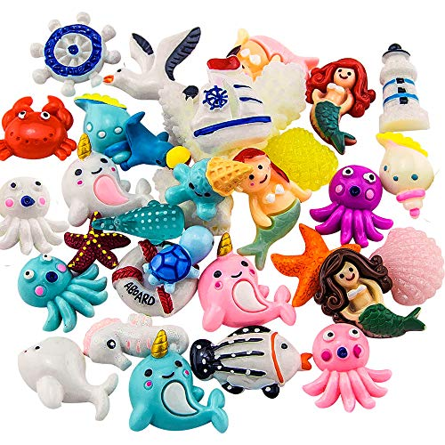 Slime Charms Ocean Set - ANPHNIE 30 pcs Sea Animals Cute Charms for Slime, Ornament Scrapbooking DIY Crafts