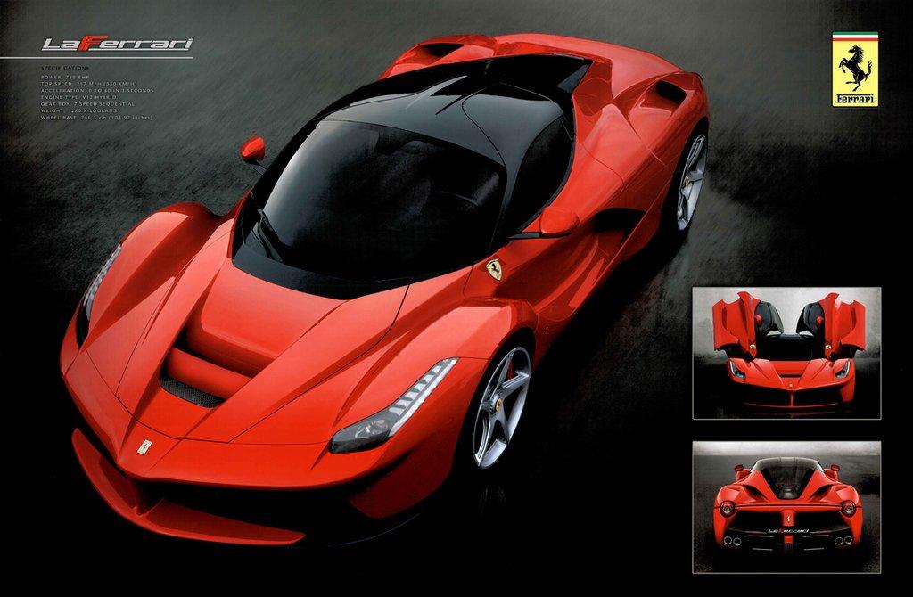 Amazoncom Ferrari LaFerrari Sport Car Poster X Inch Prints - Sports cars posters