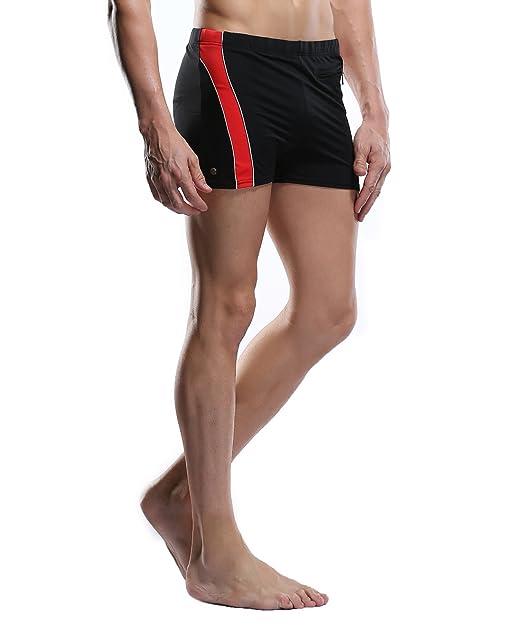 0ae00a818ba32 CharmLeaks Men s Brief Swimming wear Trainning Swimsuit Short Trunks Red  Swimsuit for Men L