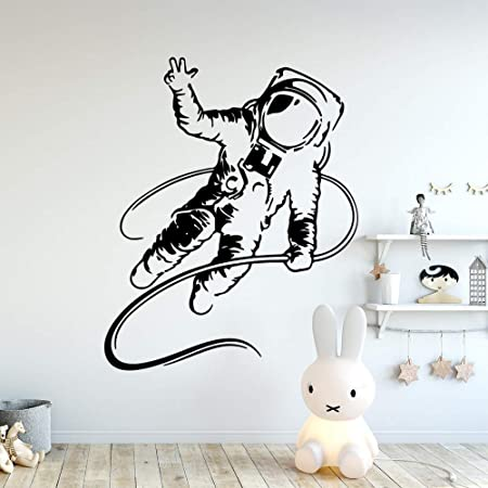 Ajcwhml Colorido Astronauta calcomanía Vinilo Mural Cartel ...