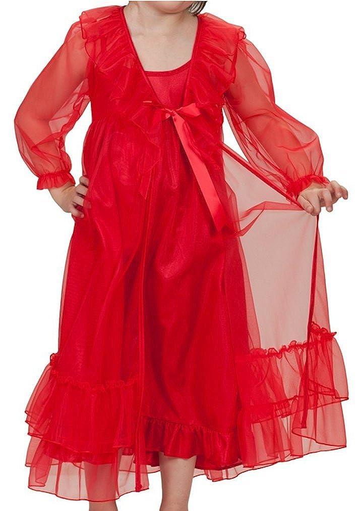43ffffe0d9 Laura Dare Girls Princess Peignoir Set Includes Nightgown Sheer Ruffle Robe  USA