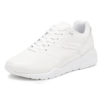 ellesse Mens White Mono LS360 Sneakers-UK 6
