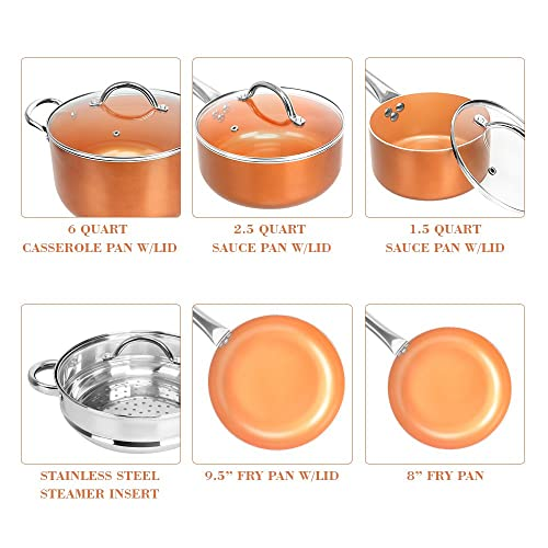 SHINEURI Copper Non-Stick Cookware