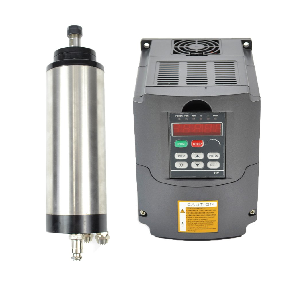 1.5KW 220V Water Cooled Er16 CNC Spindle Motor and 1.5kw 220v Vfd Variable Frequency Drive