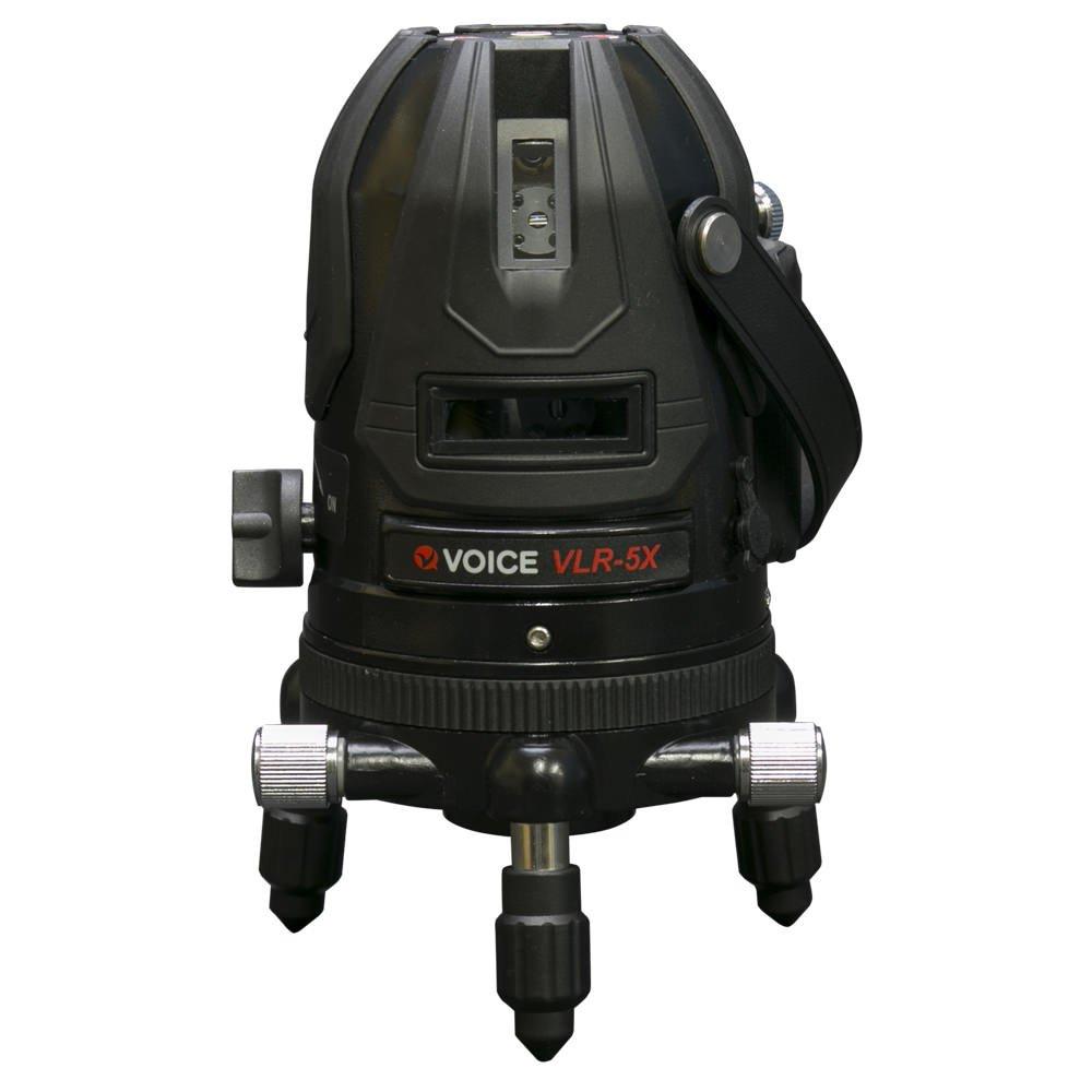 VOICE 5ライン レーザー墨出し器 VLR-5X メーカー1年保証 4方向大矩照射モデル【標準セット】