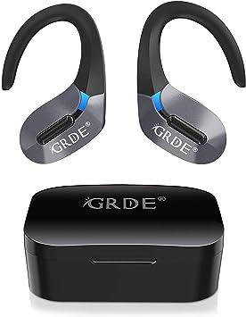 Auriculares Bluetooth, GRDE Auriculares Inalambricos (Deportivos IPX5 Impermeable) con Microfono Incorporado Hi-Fi CVC8.0, 50H Reproducción Auriculares In-Ear con Estuche de Carga para iPhone Android: Amazon.es: Electrónica