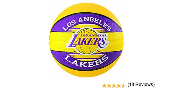 Spalding NBA Team L.A. Lakers 83-510Z Balón de Baloncesto, Unisex ...