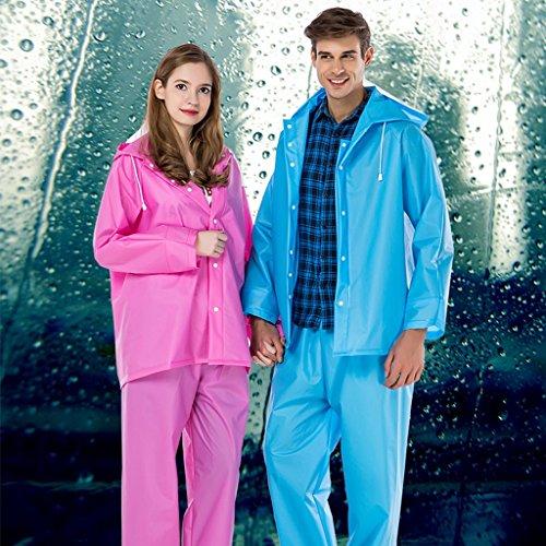 Simple Et Grand De Taille XL Adulte Plein Imperméable Imperméable Violet Pantalon Pluie Costume Hommes Air Couleur Femmes Camping En Bleu Split Jcoco Imperméable RZqnawFgPn