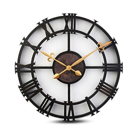 Jack Mall 17 Pulgadas de imitación de Hierro Romano Reloj Digital de Estilo Europeo Retro Reloj