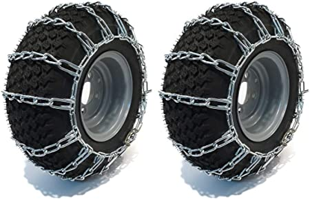The ROP Shop 2 Link TIRE Chains /& TENSIONERS 26x12x12 for Garden Tractors Riders Snowblower